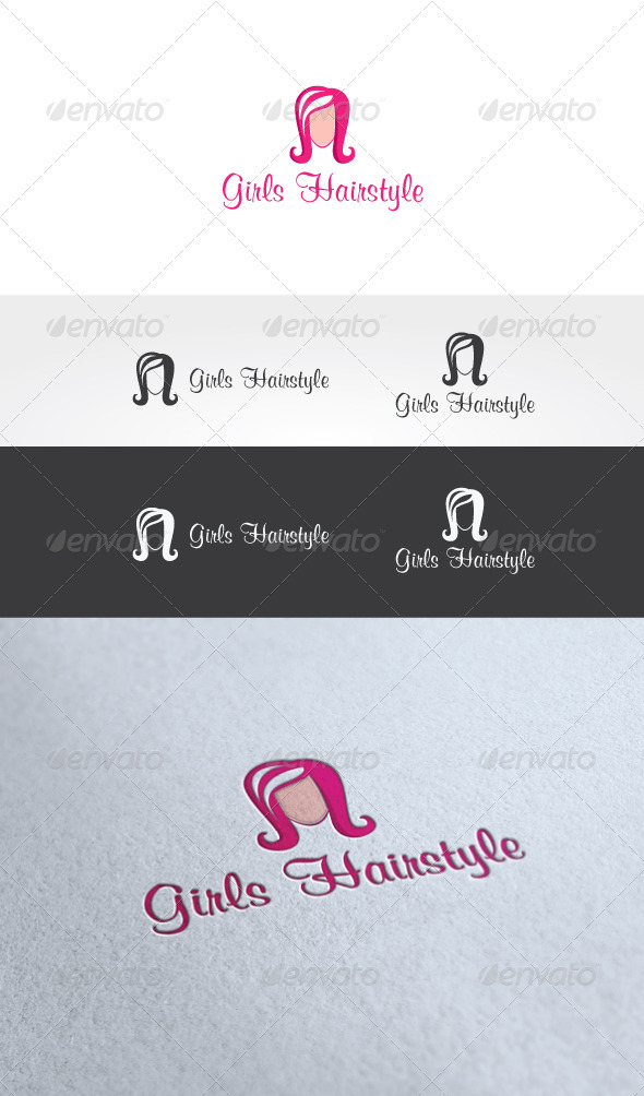 Girls Hairstyle Logo Template - Humans Logo Templates