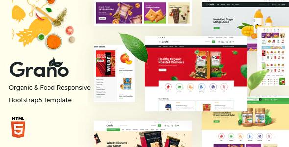 Grano – Organic & Food Responsive Bootstrap5 Template