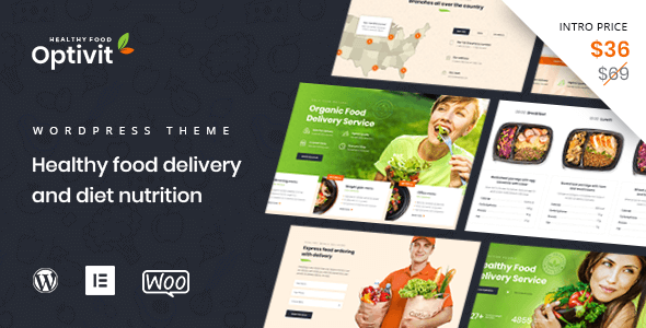 Optivit - Healthy Food Delivery WordPress Theme