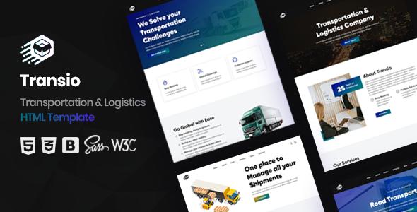 Transio - Transportation & Logistics HTML Template