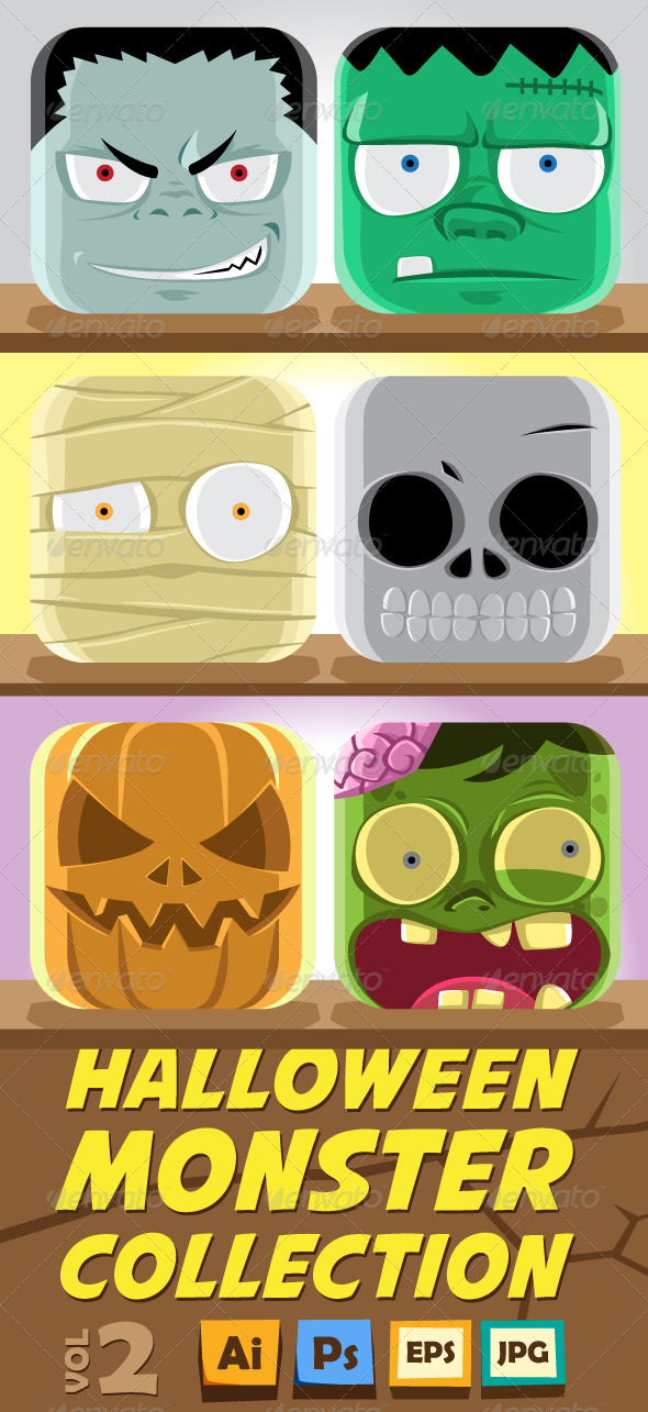 Monster Face Collection vol 2 - Halloween Seasons/Holidays