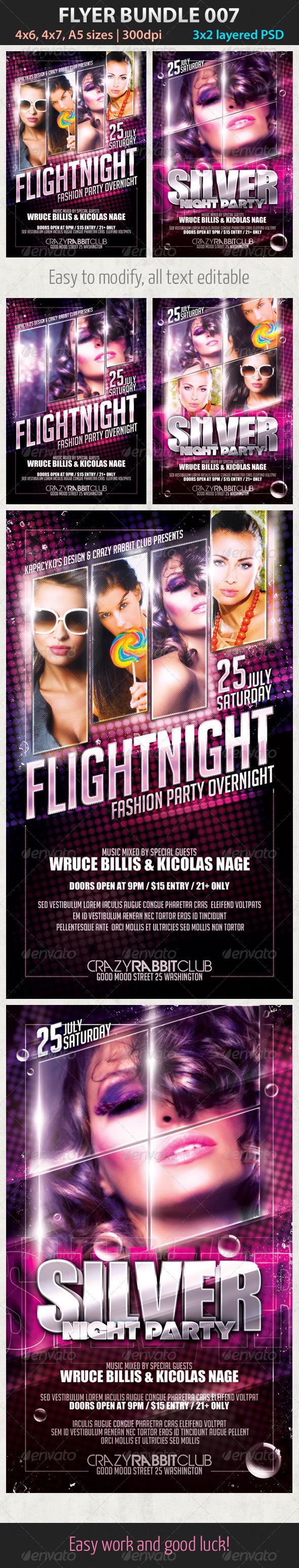 Flyer Bundle 007 - Clubs & Parties Events