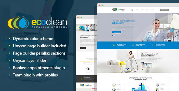 Extraordinary EcoClean - House Cleaning Company WordPress Theme