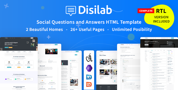 Disilab – Social Questions and Answers HTML5 Template