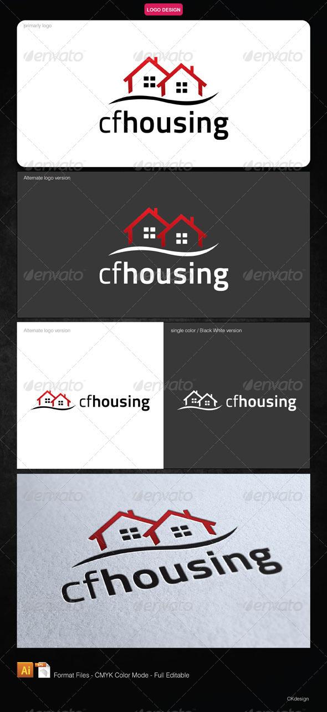 cf housing Logo - Buildings Logo Templates