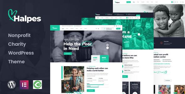 Halpes - Nonprofit Charity WordPress Theme