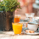 Fresh and delisious breakfast in outdoor cafe at european city - PhotoDune Item for Sale