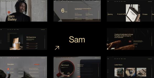 SamBailey – Personal CV/Resume HTML Template