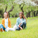 Two little kids on picnic in the park - PhotoDune Item for Sale