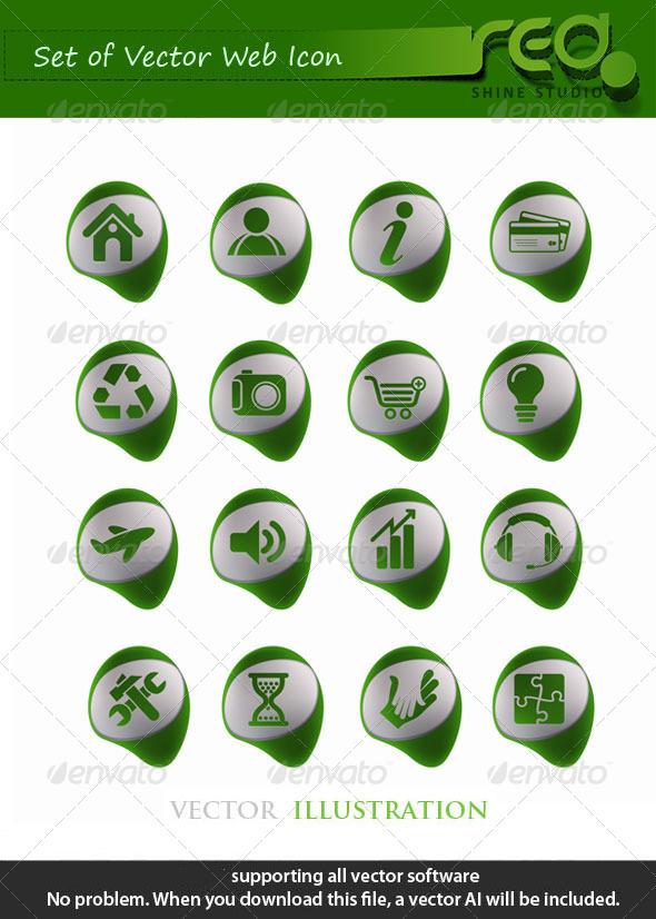 Green Web Icon Vector Mega Pack - Web Elements Vectors
