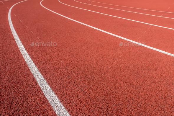 Sports Stadium Race Track Lines - Stock Photo - Images