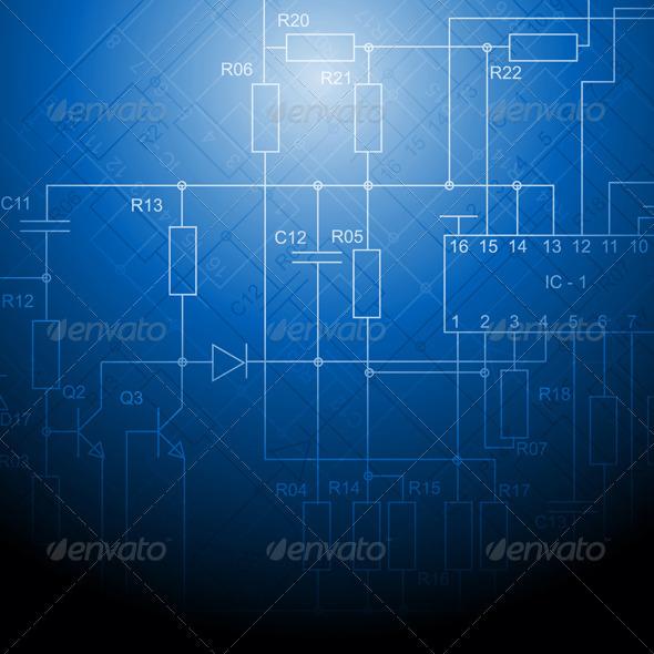 Electrical scheme backdrop - Technology Conceptual