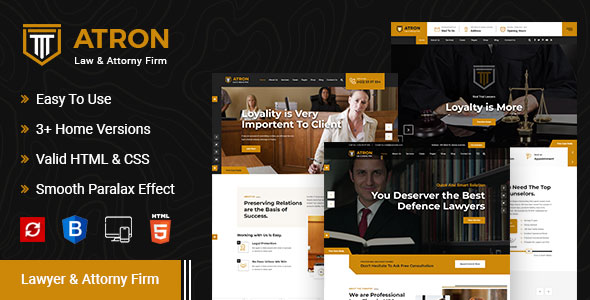Atron – Law Firm HTML Template