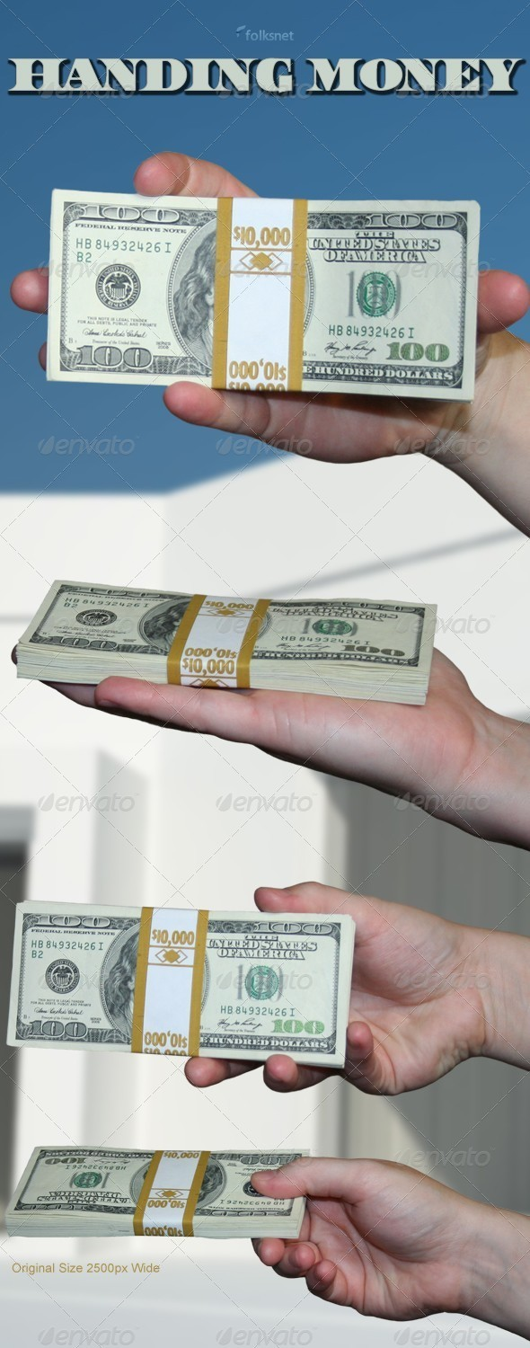 Handing Money - Industrial & Science Isolated Objects