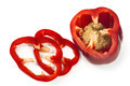 Sliced Red Capsicum over White - PhotoDune Item for Sale