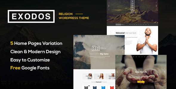 Fabulous Exodos - Church WordPress Theme