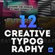 12 Creative Typography Scenes - VideoHive Item for Sale