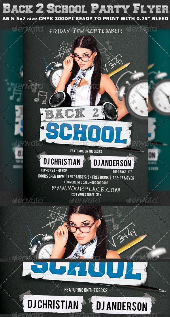 Back To School Party Flyer Template V2 By Hotpin | Graphicriver