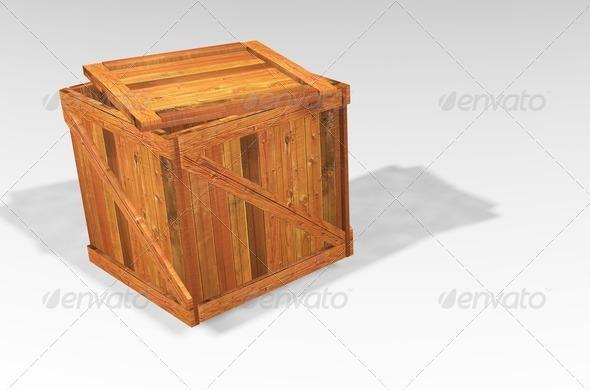Wooden crate - 3D Renders Graphics
