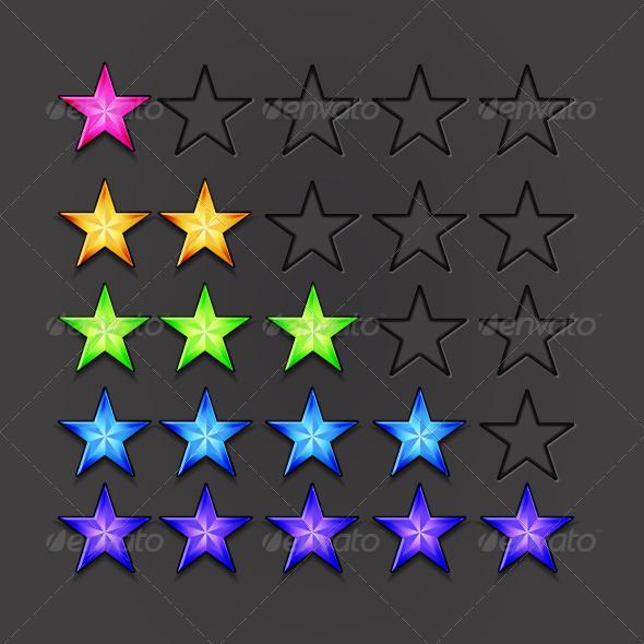 Vector Birght Rating Stars - Characters Vectors