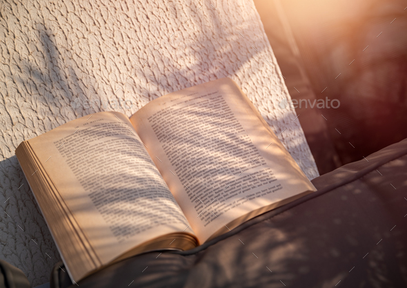 A Day with a Good Book - Stock Photo - Images