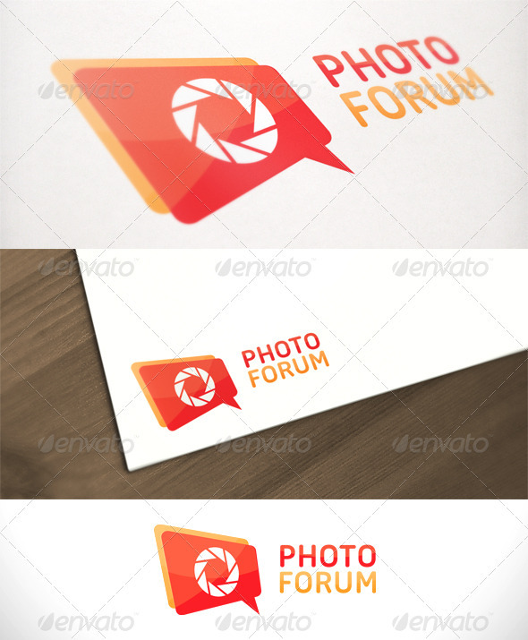 Photo Forum Photography Logo Template - Symbols Logo Templates