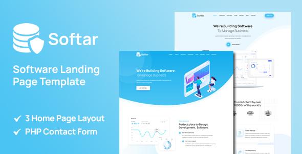 Softar - Software Landing Page