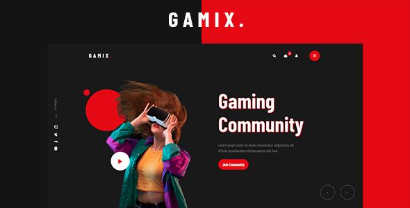 Gamix – eSports & Gaming HTML5 Template