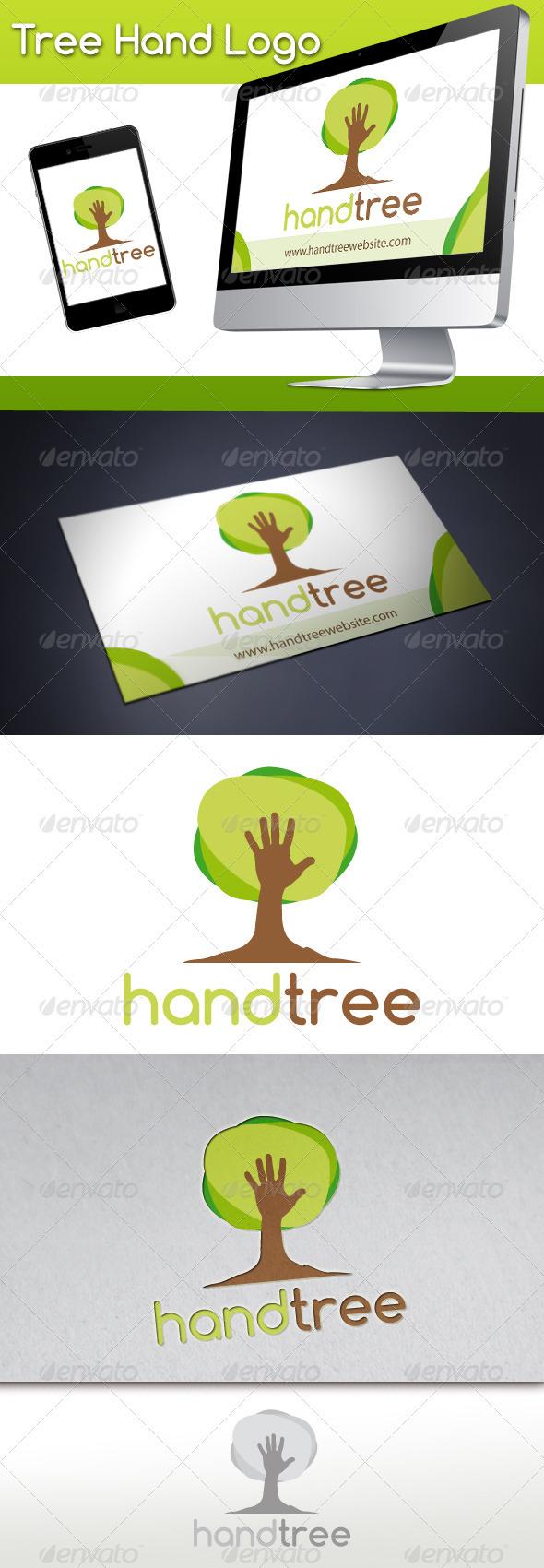 Tree Hand Logo - Nature Logo Templates