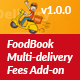 FoodBook Multi-delivery Fees Add-on