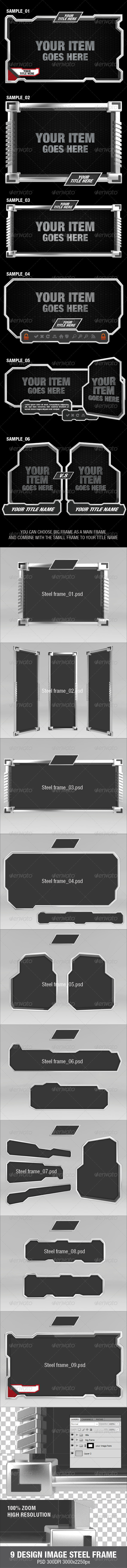 9 Design Image Steel Frame - Miscellaneous Photo Templates
