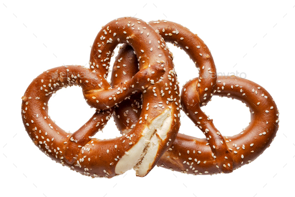 Traditional homemade pretzels - Stock Photo - Images