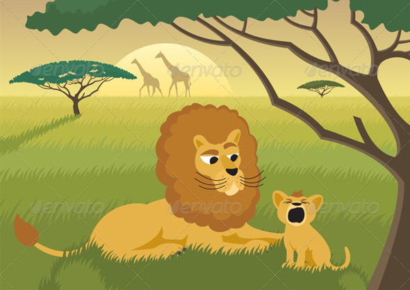 Lions in the Wild - Animals Characters