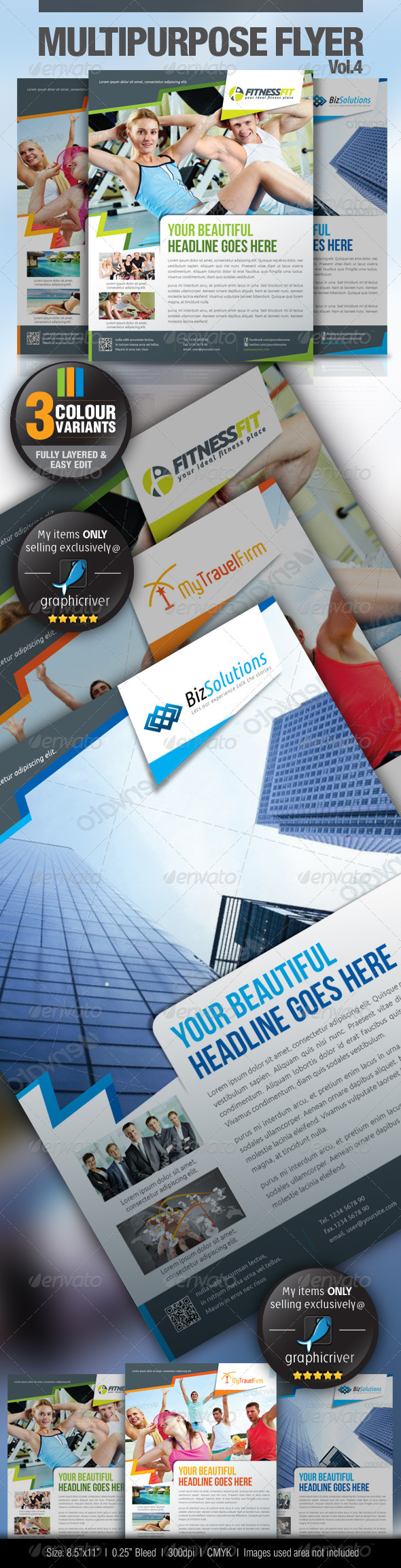 Multipurpose Business Flyer Vol.4 - Commerce Flyers