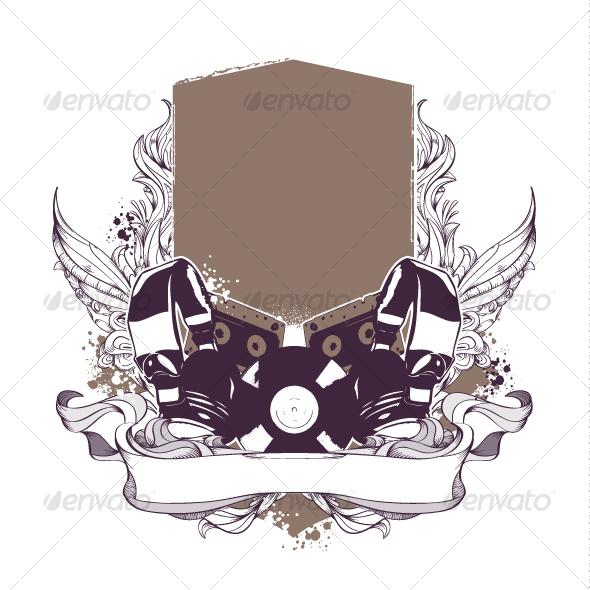 musical grunge elements - Decorative Symbols Decorative