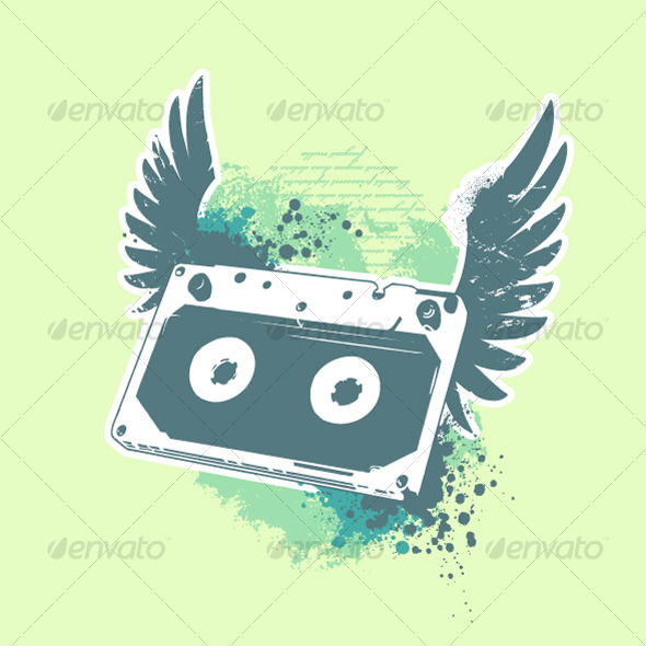 Grunge audio tape - Decorative Symbols Decorative