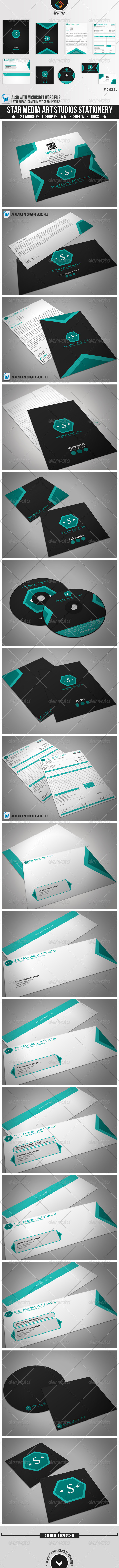 Star Media Art Studios Stationery - Stationery Print Templates