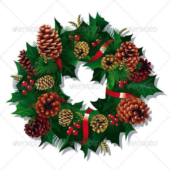 Xmas Wreath - Christmas Seasons/Holidays