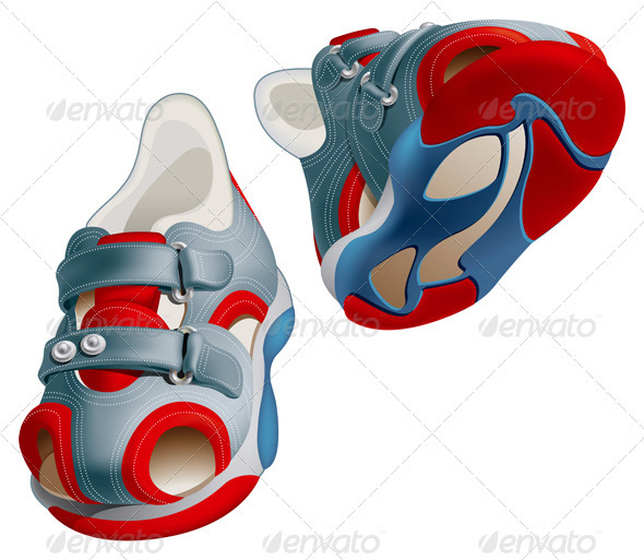 Summer Shoes - Miscellaneous Vectors