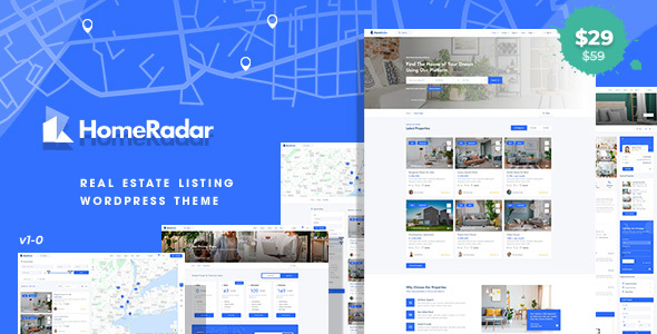 HomeRadar - Real Estate WordPress Theme