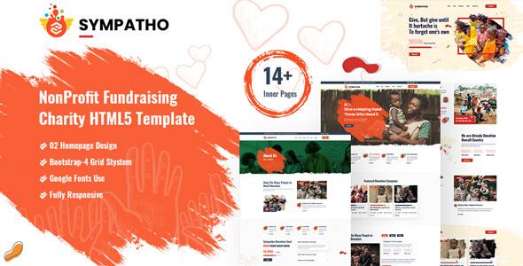 Sympatho – Non Profit & Charity HTML5 Template