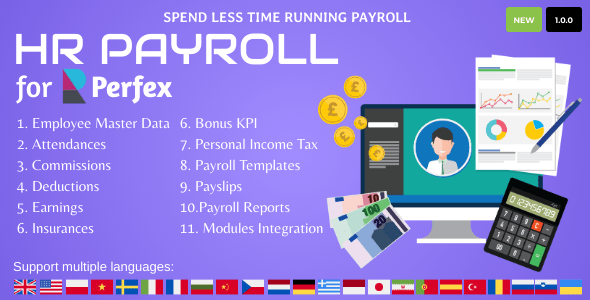 Download HR Payroll for Perfex CRM Free Nulled
