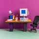 Retro office interior workplace. - PhotoDune Item for Sale