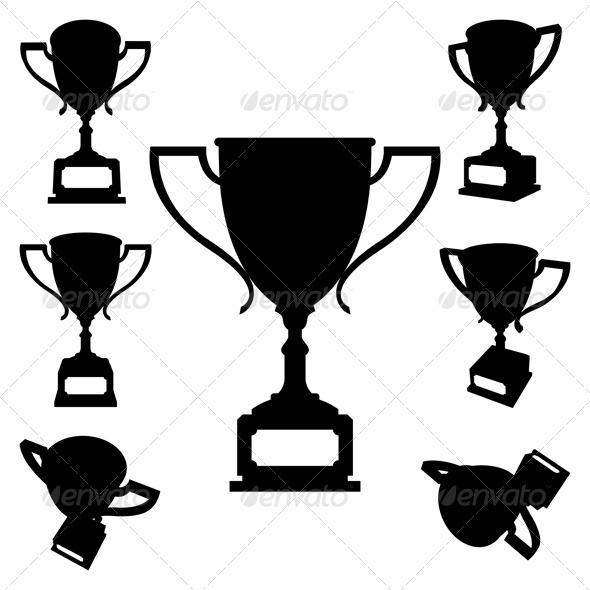 Sport Cups Silhouettes - Miscellaneous Vectors