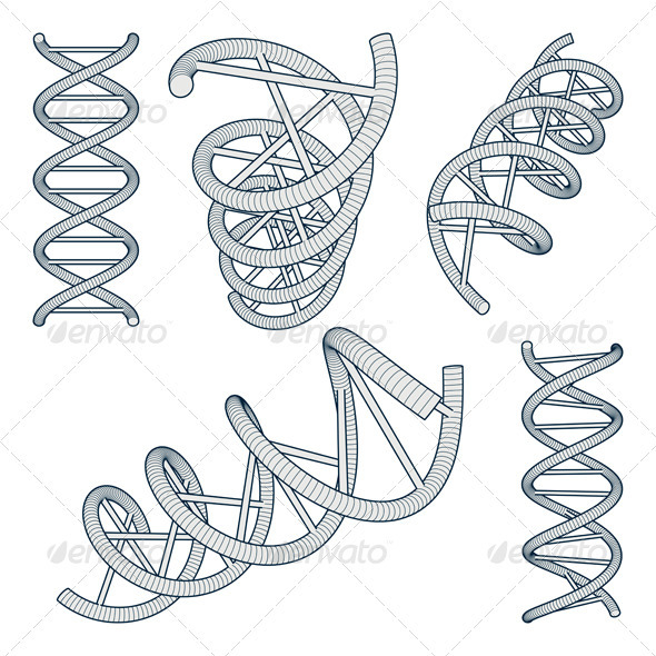 DNA Symbols Set - Health/Medicine Conceptual