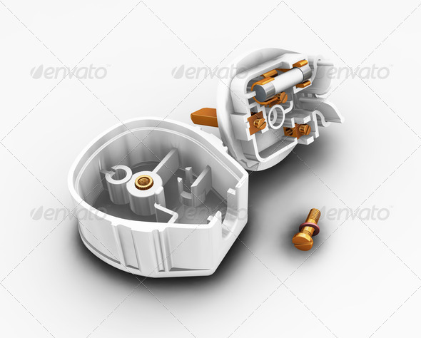 Dismantled plug - Technology 3D Renders