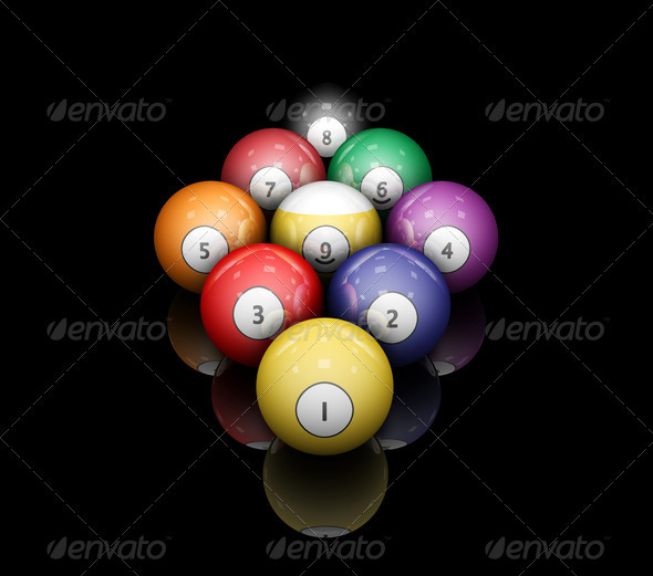 Pool balls - Objects 3D Renders