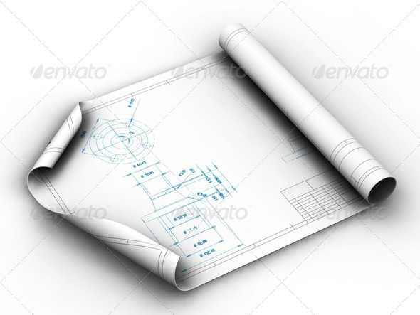 Blueprints - Objects 3D Renders