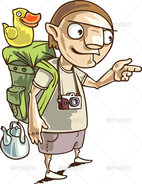 Backpacker - Characters Vectors