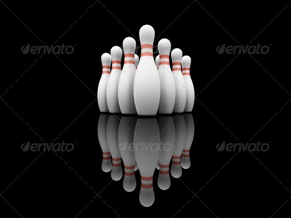 Bowling skittles - Objects 3D Renders